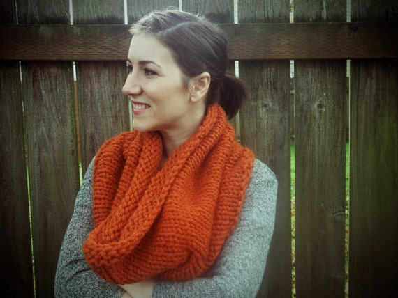 Hand Knit Cowl - You Choose the Color - Super Thick - Made to Order