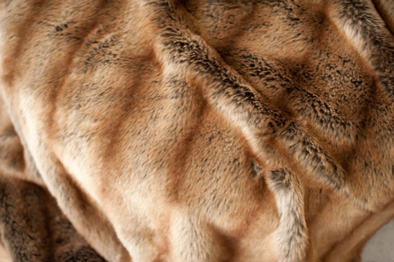 BROWN Faux Fur Photo Prop Blanket (med)