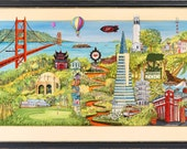 San Francisco, san francisco Poster, 49ers, forty niners, golden gate, san francisco giants, san francisco collage, san francisco city scape