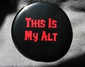 World of Warcraft - This Is My Alt Horde - Horde - Button or Magnet or Keychain Bottle Opener