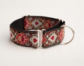"1.5"" Martingale dog collar for Sighthounds, Lurchers, Greyhounds, Whippets, etc."
