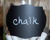 Chalkboard labels - Fancy Oval- Medium size - set of 75