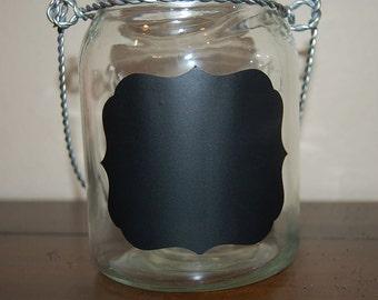 chalkboard labels - Fancy - Extra Large size - set of 6 -