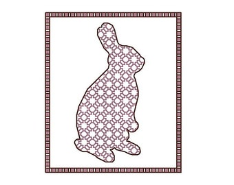 Blackwork bunny, blackwork animals collection