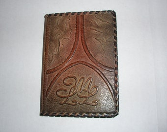 PASSPORT COVER HOLDER -  Personalized Leather Travel Gift Art Craft Handmade #3