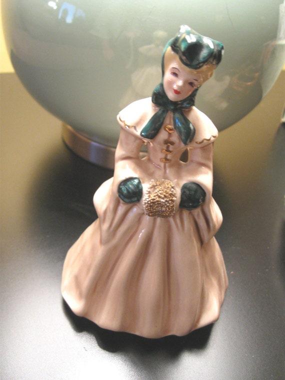 SALE  Vintage Florence Ceramics Figurine Elaine Victorian 1950's  FREE Shipping