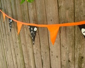 giant glow-in-the-dark Halloween pennant bunting banner