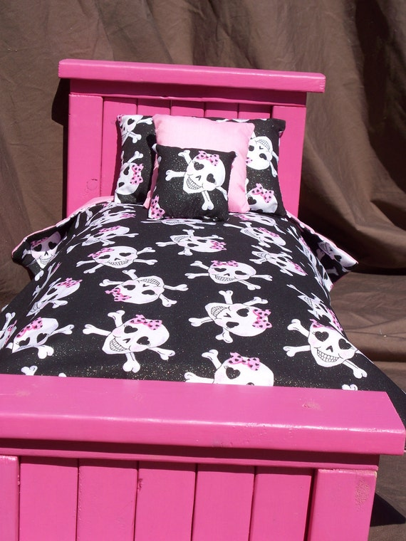 Items Similar To Girly Skull Doll Bedding Set For American