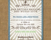 Western Style Printable Wedding Invitation