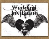 Gothic Style Printable Wedding Invitation