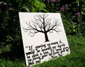 RESERVED: Handpainted Wall Art Board (with Peter Pan Quote)