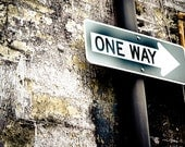 One Way Road Sign 8 x10 Fine Art Photography Print