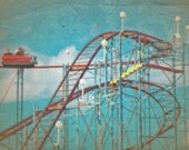 Rollercoaster Blue Sky 8x10 Photography