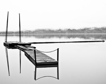 Reflecting, Black and White 8 x10 Photography