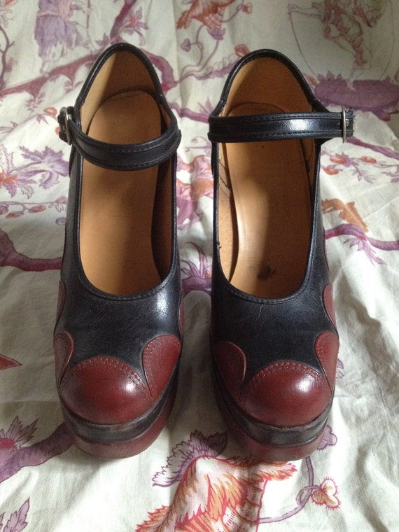 RESERVED 1970's platform size 39-8/ mary jane
