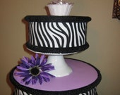 """Cake Pop Stand Purple Zebra Print CupCake stand/Topper Centerpiece display/Party/Table Decoration 12"""""""