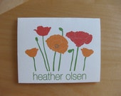 poppy custom stationary - set of 10 cards