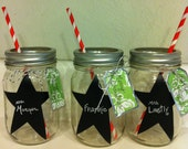 CUSTOM LISTING for M. Zimmer - Mason Jar with writing