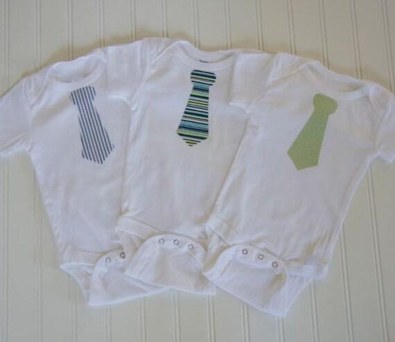 Baby Boy Necktie Onesies Set of 3