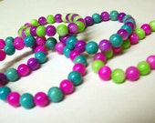 CLEARANCE FUN  and VIBRANT multicolored M.o.p. beaded Bracelets for girls