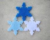 30 Piece Die Cut Felt Snowflakes