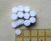 3/4 Inch Die Cut Felt Circles in White, OR your choice of colors, Set of 100