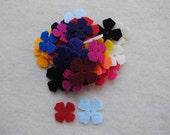 100 Die Cut Felt Lilac Flowers, Variety of Colors