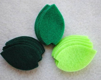 30 Piece Die Cut Felt Leaves, Style No. 4