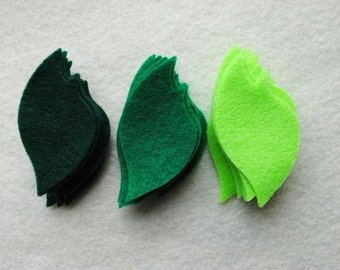 30 Piece Die Cut Felt Leaves, Style No. 3