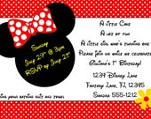 Minnie Mouse Invitation Template 4x6