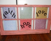 Painted Window Frame - Made to Order - Your choice of backing