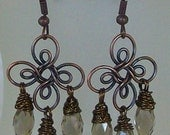 Rustic Chandelier Earrings