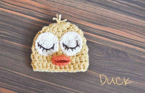 Sleeping duck farm animal hat