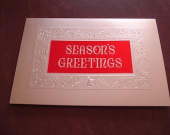 Seasons Greetings Vintage Christmas Card