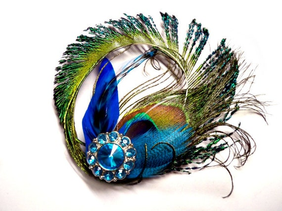 Peacock Hair Accessory- Blue, Teal, Turquoise