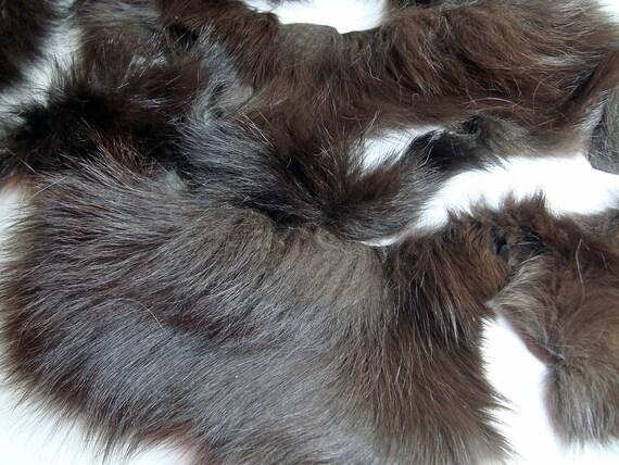 RESERVED Dark Brown Fox 100 Gram Lot Premium Fur Scraps Arctic Store Arktika Russia