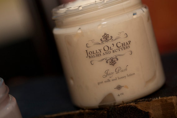SALE Juicy Peach Goats Milk and Honey Lotion