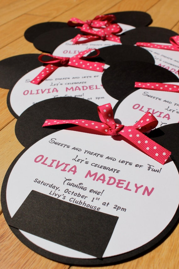 Minnie Mouse (Inspired) Birthday Invitations