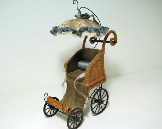 MADE TO ORDER Wicker Perambulator for a Dolls Doll
