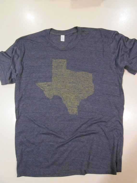 "Texas City T-shirt  -   ""I've Been Everywhere"" - Navy Blue Heather Blend"