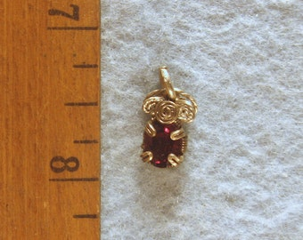 Garnet in Argentium Sterling Silver Wire Wrapped Pendant  Number 2 of 500
