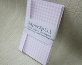 10 Tiny Pink Gingham Envelopes