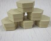 6 Plain Card Hexagon Shaped Gift Boxes