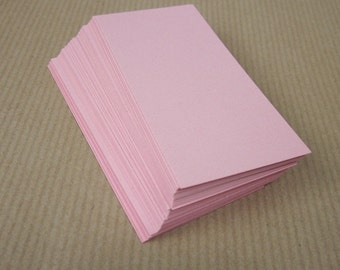 50 Small Pale Pink Cards