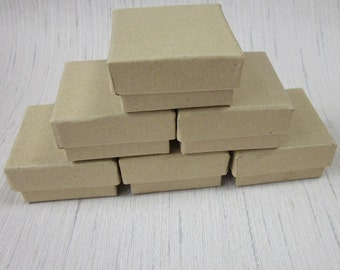 6 Plain Card Square Gift Boxes