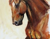 "Beautiful Equine horse LE print 'Fervor' from an original oil by Heather Irvine 12""x16"" individually signed and mounted"