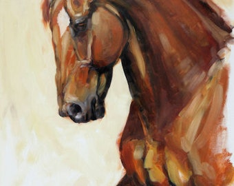 Equine art horse art horse gift horse lover gift LE edition art print wall art home decor 'Fervor' from an original oil