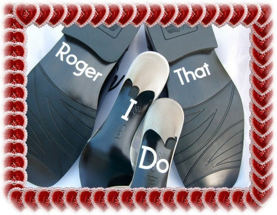 Wedding Shoe Stickers - Police Wedding - I Do Roger That  - Stickers