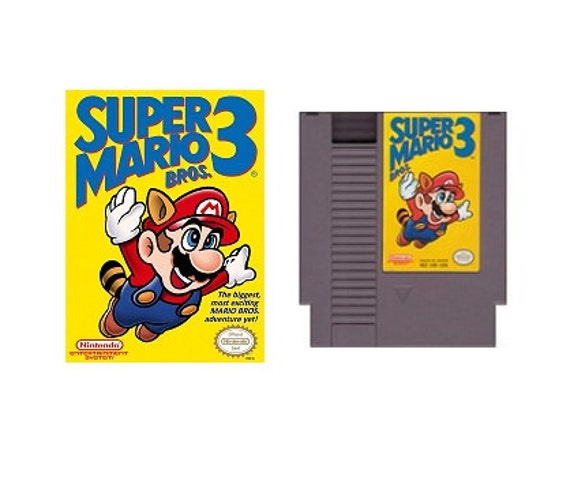 Original Nintendo NES Video Game - Super Mario Bros 3 used in original box, instruction booklet, free poster, and strategy guide, tagt team