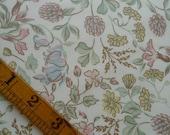 Vintage Floral Sheet Fabric, Pastel Colours, Fat Quarter